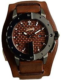 Jean Paul Gaultier 8500102 - Reloj de pulsera para hombre, marrón / plata