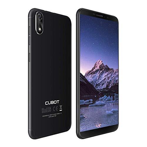 CUBOT J3 Dual SIM Smartphone 12,63 cm (5 Pulgadas) Full-Wide VGA TN Touch Display, 16 GB de Memoria Interna, Android 8.1 Oreo (Go Edition) Teléfono Móvil Cámara de 8MP+5MP,Face ID, GPS/A-GPS (Negro)