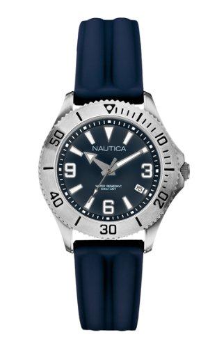 Nautica NAC 102 - A11528M - Montre Femme - Quartz Analogique - Bracelet Silicone Bleu