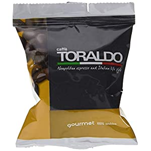 100 Capsule Compatibili Nespresso Caffè Toraldo Miscela Gourmet