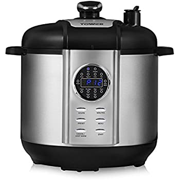 be38f965f0423 Tower Health T16005 One Pot Express 12-in-1 Electric Pressure Cooker,  Steamer, Rice Cooker, Stewing Pan with Non-Stick Pot, Digital Timer, 24  Hour Keep Warm ...