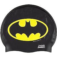 Zoggs Bañador para Niños de Batman Silicona Cap, Negro/Amarillo, 6–14Años