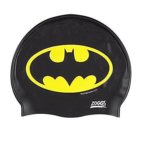 Zoggs Kids' Batman Silicone Swimming Cap - Black/Yellow, One Size