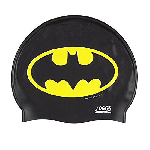 Zoggs Bañador para niños de Batman Silicona Cap, Negro/Amarillo, 6-14años