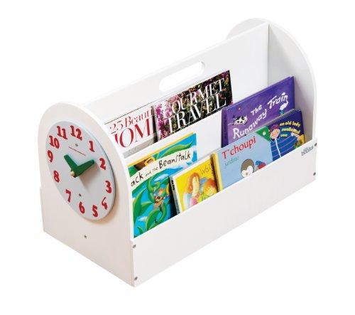 Tidy Books - Kinder Bücherbox Tragbares Kinderzimmer Bücherregal aus Holz 34 x 54 x 28 cm, Weiß -