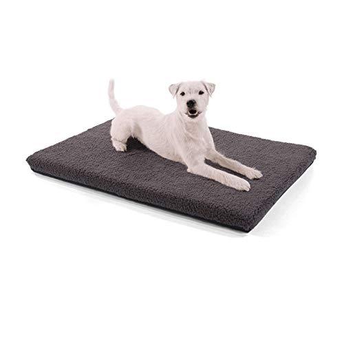 brunolie Nala Hundedecke | Rutschfeste Hundematte | Plüsch-Hundedecke | mit Reißverschluss | für Hunde und Katzen geeignet | S 80 x 60 x 5 cm | Dunkelbraun