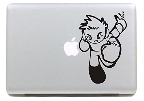 Vati Foglie fumetto smontabile cool Sports Boy decalcomania del vinile autoadesivo della pelle Art nero per Apple Macbook Pro Air Mac 13