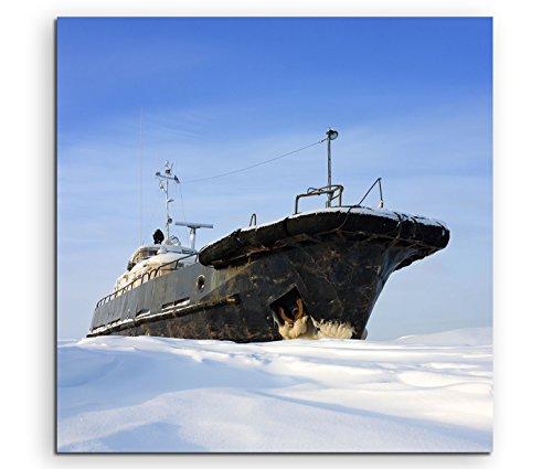 Leinwandbild 80x80cm Landschaftsfotografie – - Frost Eisbrecher