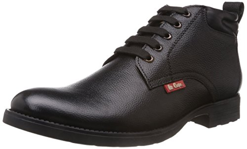 Lee Cooper Men's Black Leather Boots - 7 UK