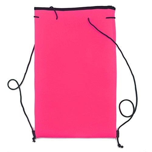 Fenyi da ragazza color block neoprene bikini costumi da bagno Pink Small