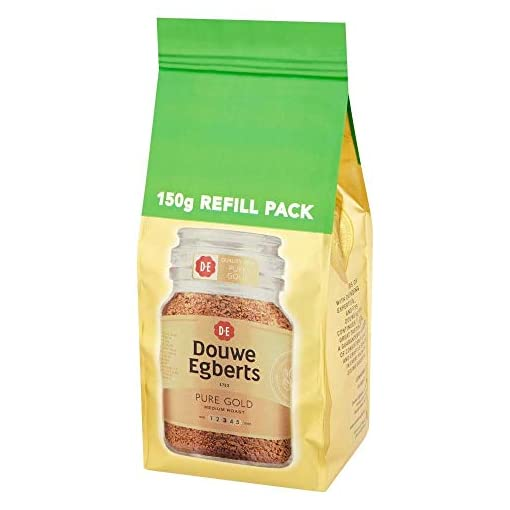 Douwe Egberts Pure Gold Medium Roast Refill Pack, 150g (Pack of 3)