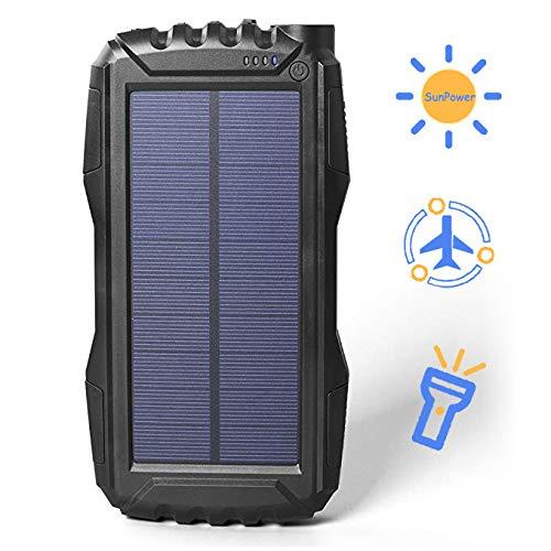 9461f794b49 Batería externa solar de 25000 mAh soluser Solar Power Bank a prueba de  golpes/Salida