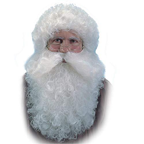 Horror-Shop Nikolaus Bart und Perücke als Weihnachtsmann & Santa Claus ()