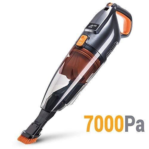 PUPPYOO WP709 beutel- und kabelloser Handstaubsauger (110 W, inkl. Kombidüse/Akkustaubsauger für Autos Zuhause) Grau & Orange
