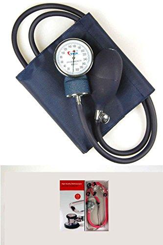 Valuemed Sprague Rappaport Stethoskop Blutdruckmessgerät + Rot Tube Bundle Medical Profi Aneroid Blutdruckmessgerät Pro CE NHS Unit + Stethoskop Box