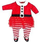 Lily & Jack - Baby Mädchen Strampler Schlafanzug mit Rock Weihnachten aus Nicki, Mehrfarbig, 68/74 (6-9M)