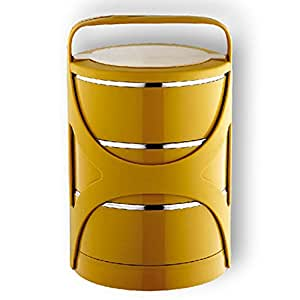lunch box bo te tartine thermos chaud et froid jaune cuisine maison. Black Bedroom Furniture Sets. Home Design Ideas