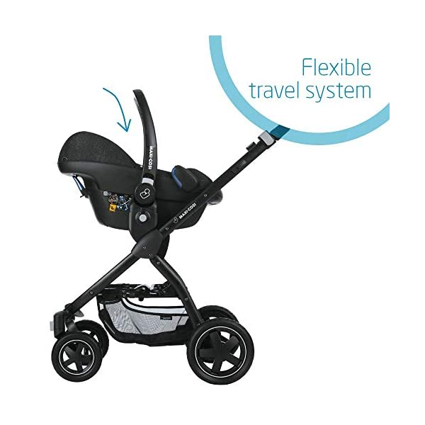 Maxi-Cosi Pebble Plus Baby Car Seat Group 0+, ISOFIX Car Seat, i-Size, 0-12 m, 0-13 kg, 45-75 cm, Nomad Black Maxi-Cosi Baby car seat, suitable from birth to approximate 1 year (0-13 kg, 45-75 cm) Fits with compatible Maxi-Cosi base unit for ISOFIX installation i-Size for enhanced safety and optimal protection against side impacts 6