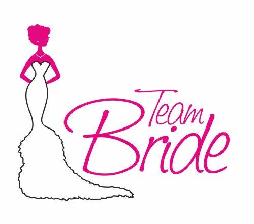 Junggesellenabschied Damen/Girlie T-Shirt Motiv Team Bride Weiß