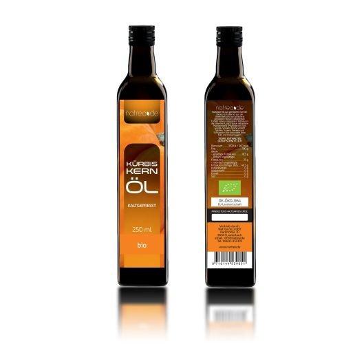 Natrea Bio Kürbiskernöl aus der Steiermark | kaltgepresst ✔ 100% reines BIO-Öl ✔ in 250 ml Lichtschutzflasche (1 x 0,25 l) - 3