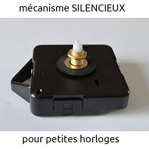 Mécanisme d'horloge silencieux et aiguilles 10 / 13 cm (14 mm, dorée)