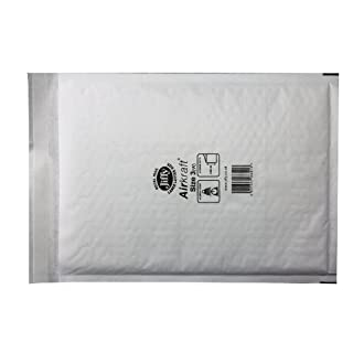 Jiffy Airkraft Lightweight Postal Bag for A3 Box of 50 - Size 7, White, 370,445mm