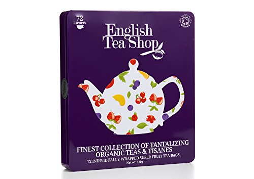 English Tea Shop - Feine Teekollektion in edler Metalldose, 72 Tees (9x8)