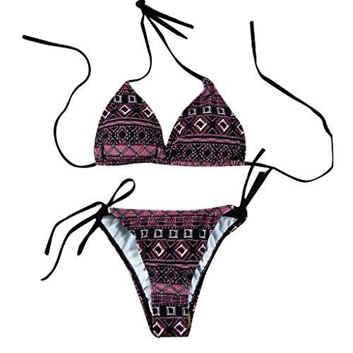 Bfmyxgs Fashion Bikini für Damen Lady Patchwork Bikini Push-up-Pad Bademode Beachwear Baden Set Bademode Tankini Sets Monokini Bodys Baden Badeanzug Bikini ()