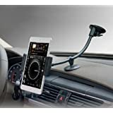 """Car Dashboard Windshield Suction Mount,Two Clip for 3.5""""-5.5"""" iPhone and 7-8 Inch Tablets iPad Mini"""