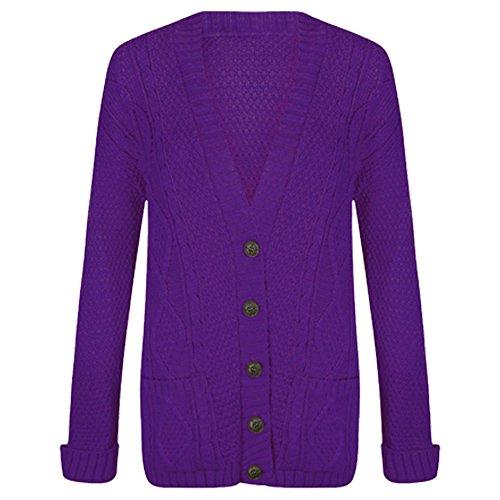 Purple Hanger -  Cardigan  - Donna Purple