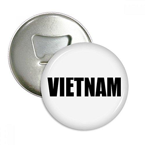 DIYthinker Vietnam Land Name Schwarz Runde Flaschenöffner Kühlschrankmagnet-Abzeichen-Knopf-3pcs...