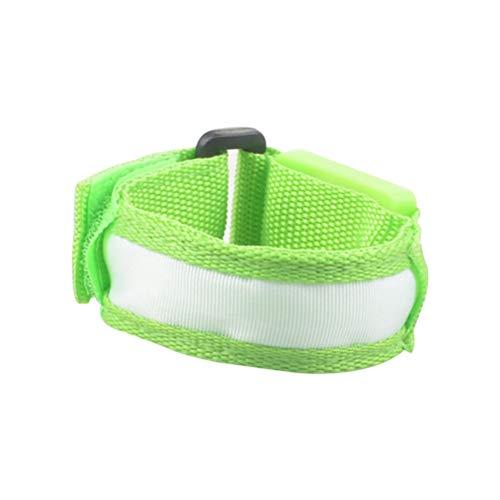 Preisvergleich Produktbild LIOOBO Nylonarmbänder mit Klapphandy LED-Armbänder zum Nachtspielen (grün)