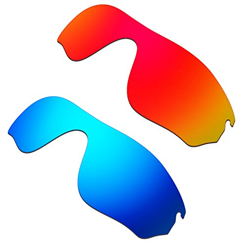 HKUCO Mens Replacement Lenses For Oakley RadarLock Pitch Sunglasses Red/Blue Polarized