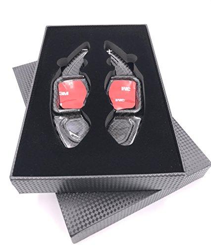 H-Customs DSG Schaltwippen Verlängerung Schaltung Shift Paddle aus echtem Carbon für Golf 5/6 GTI R GTD, Passat CC, 3C etc REAL CARBON