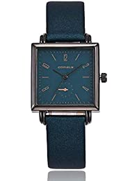 ¡Promoción para Mujer Relojes de Cuarzo Moda Minimalista Metal Retro  Cuadrado Dial Reloj de Pulsera 03f0ea2b6c94
