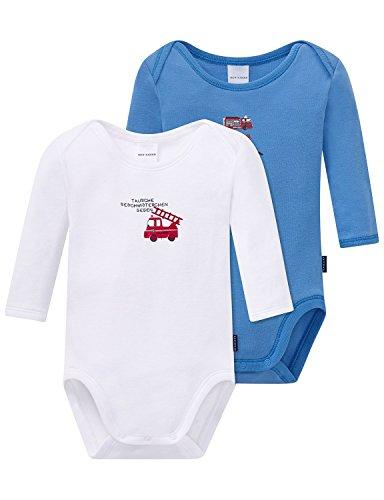 Schiesser Baby-Jungen Body 2pack Bodies 1/1, 2er Pack, Mehrfarbig (Sortiert 1 901), 80 (Herstellergröße: 080)