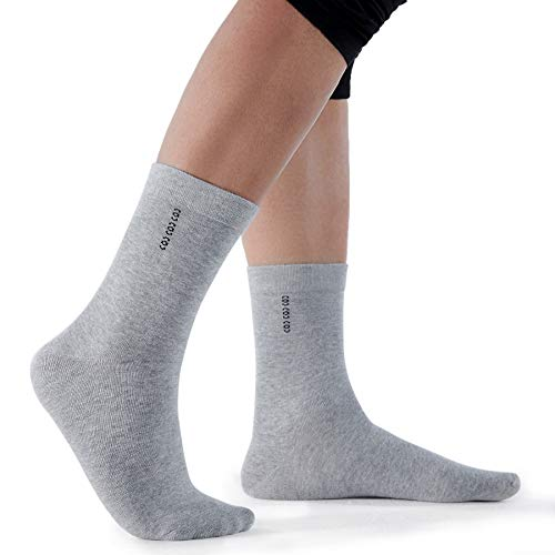 Dovava Socken Herren, PREMIUM Sneaker Socken Herren,82% Baumwoll Socken Atmungsaktiv, Verschleißfest Business Socken ohne drückende Naht 3er Pack (Grau, 39/44) -