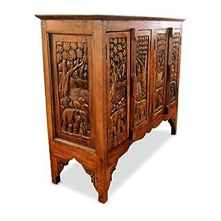 livasia Asiatisches Sideboard aus Massivholz, Anrichte, Handarbeit, Möbel, Thailändische Kommode der Marke Asia Wohnstudio, (Nr.12)