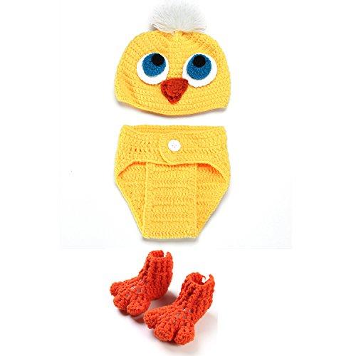 Kinder Baby Strick Mütze Küken Fotoshooting Neugeborene Muster Design Hut Kostüm Hüte (Küken Junge)