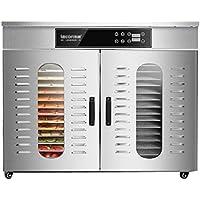 WLJHGJ Deshidratador de Frutas, Temperatura del Cuerpo de Acero Inoxidable de 30-90 ° C y secador de ajustes de sincronización para Frutas Frescas y secas.