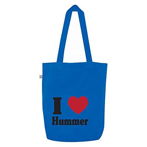 i love Hummer Motiv auf Umhängetasche, Jutebeutel, Tasche, stylisches Modeaccessoire, Unisex, viele Sprüche und (Hummer Outfit)