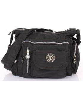 Bag Street Umhängetasche Nylon Bodybag in verschiedenen Farben Geschenkset + exklusiven Greenland Nature Schlüsselanhänger