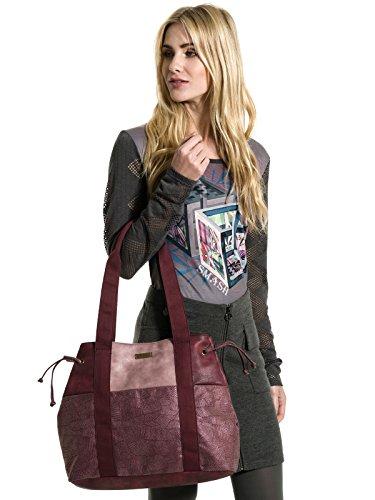 Smash! Lemab, Sacs portés épaule femme, Rojo (Wine), 10,5x31x38 cm (W x H L)