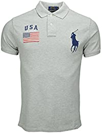 Polo Ralph Lauren Big Poney USA gris pour homme