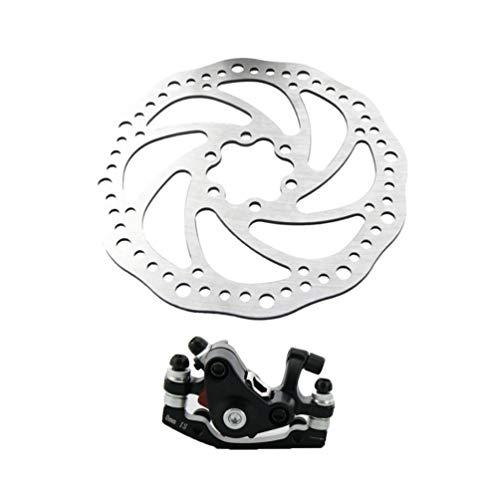 Kit Bici Freno a Disco Universale Regolabile in Lega di Alluminio da 160Mm per Bici da Strada Mountain Bike BMX MTB - Davanti