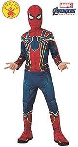 Rubies - Disfraz Oficial de Araña de Hierro de los Vengadores, Spiderman Clásico, para niño, Talla L, Edad 8 - 10, Altura 147 cm