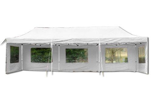 Nexos Profi Faltpavillon Partyzelt Pavillon 3x9 m mit Seitenteilen - hochwertige Ausführung -...