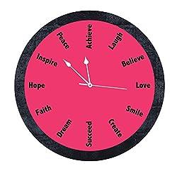 10 am Inspiration Clock (Pink) - Acrylic (180 grms)