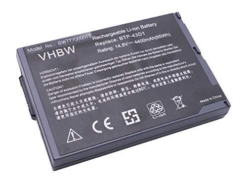 Batterie LI-ION 4400mAh 14.8V Noir Compatible pour Acer remplace BTP-43D1 / 60.49S22.011
