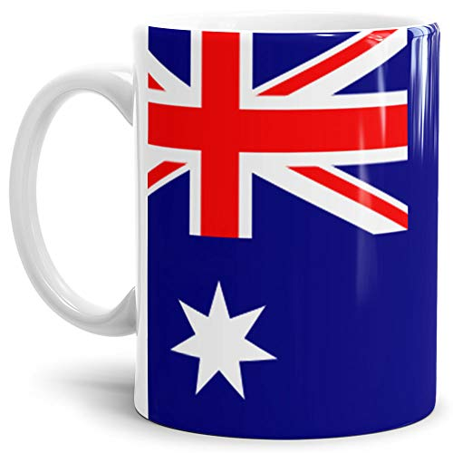 Tassendruck Flaggen-Tasse Australien - Kaffeetasse/Mug/Cup - Qualität Made in Germany